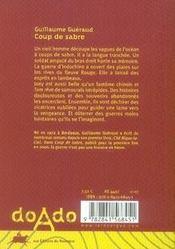 Coup de sabre - 4ème de couverture - Format classique