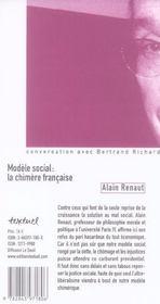 Modèle social : la chimère française - 4ème de couverture - Format classique