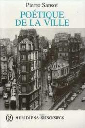 Poetique De La Ville - Couverture - Format classique