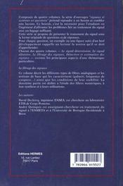 Le filtrage des signaux - 4ème de couverture - Format classique