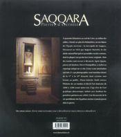 Saqqara, pierres d'eternite - 4ème de couverture - Format classique