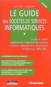 Le Guide Des Societes De Services Informatiques - Intérieur - Format classique