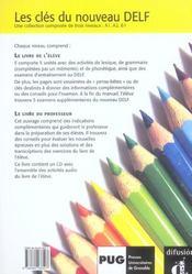 Les Cles Du Nouveau Delf A1 - 4ème de couverture - Format classique