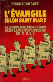 L'Evangile Selon Saint Marx. - Couverture - Format classique