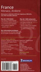 GUIDE ROUGE ; France (édition 2010) - 4ème de couverture - Format classique