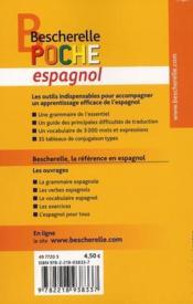 Bescherelle poche espagnol - 4ème de couverture - Format classique