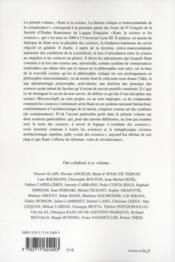 Kant et la science ; la théorie critique et transcendantale de la connaissance - 4ème de couverture - Format classique