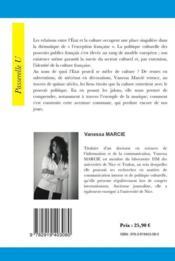 Politique et culture ; petite histoire d'une instrumentalisation mutuelle dans le paysage musical français - 4ème de couverture - Format classique