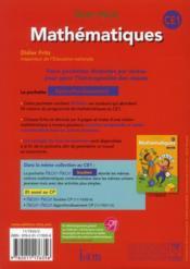 PASSE-PASSE ; mathématiques ; CE1 ; approfondissement (édition 2012) - 4ème de couverture - Format classique