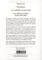 Dissonances ; des orchidées sur les terrils ; je ne sais pas si j'aime encore mon pays - 4ème de couverture - Format classique
