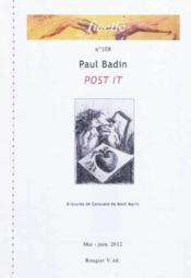 Ficelle N 108 - Post It - De Paul Badin, Ill.De Deux Gravures De Consuello De Mont Marin - Couverture - Format classique