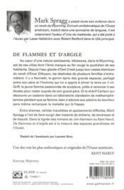 De flammes et d'argile - 4ème de couverture - Format classique