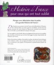 L'histoire de France pour ceux qui ont tout oublié - 4ème de couverture - Format classique
