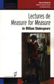 Lectures de measure for measure de William Shakespeare - Couverture - Format classique