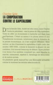 La coopération contre le capitalisme - 4ème de couverture - Format classique