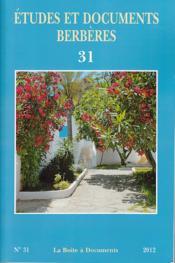 ETUDES ET DOCUMENTS BERBERES N.31 (édition 2012) - Couverture - Format classique