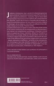 Dictionnaire des monothéismes ; judaïsme, christianisme, islam - 4ème de couverture - Format classique