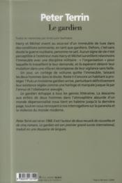 Le gardien - 4ème de couverture - Format classique