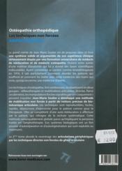 Ostéopathie orthopédique ; les techniques non forcées amphothérapie t.2 ; les articulations périphériques - 4ème de couverture - Format classique