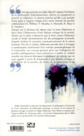 Habermas ; la raison publique - 4ème de couverture - Format classique