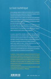 Le livre numérique - 4ème de couverture - Format classique