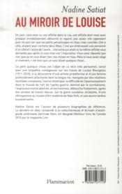 Au miroir de Louise ; essai sur l'artiste Louise Bourgeois - 4ème de couverture - Format classique