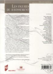 Revue La Licorne N.107 ; Les Figures Du Ravissement - 4ème de couverture - Format classique