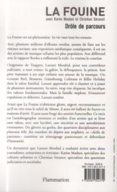La Fouine ; drôle de parcours - 4ème de couverture - Format classique