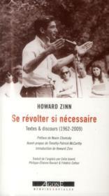 Se révolter si necessaire ; textes et discours (1952-2010) - Couverture - Format classique