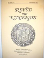 Revue de l'Agenais. Bulletin trimestriel de la Société Académique d'Agen. (107e année, n° 3). - Couverture - Format classique