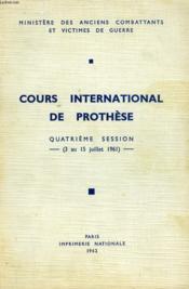 Cours International De Prothese - Couverture - Format classique
