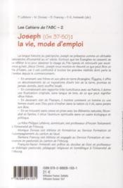 Joseph : la vie, mode d'emploi - 4ème de couverture - Format classique