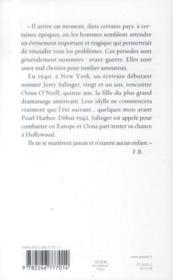 Oona & Salinger - 4ème de couverture - Format classique