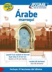 GUIDES DE CONVERSATION ; árabe maroquí - Couverture - Format classique