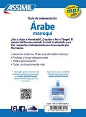 GUIDES DE CONVERSATION ; árabe maroquí - 4ème de couverture - Format classique