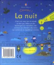 COUCOU ! ; la nuit - 4ème de couverture - Format classique