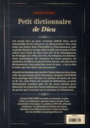 Petit dictionnaire de Dieu - 4ème de couverture - Format classique