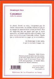Camarillo ; adios les seventies - 4ème de couverture - Format classique