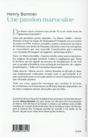 Une passion marocaine ; essai - 4ème de couverture - Format classique