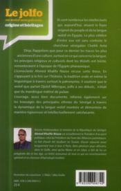 Le Jolfo ou Wolof senegalensis : origine et héritages - 4ème de couverture - Format classique
