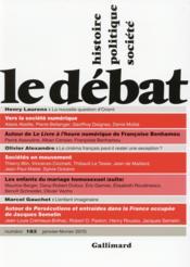 Revue Le Débat N.183 - Couverture - Format classique