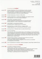 Revue Le Débat N.183 - 4ème de couverture - Format classique
