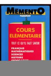 Memento Passeport Ce - Couverture - Format classique