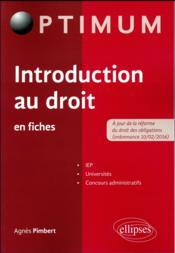 Introduction au droit en fiches - Couverture - Format classique