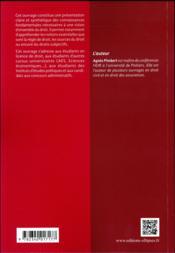 Introduction au droit en fiches - 4ème de couverture - Format classique