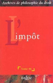 L'impot - Intérieur - Format classique