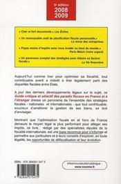 Guide critique et sélectif des paradis fiscaux en France et à l'étranger - 4ème de couverture - Format classique