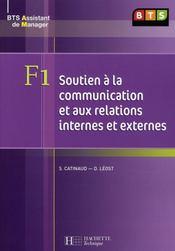BTS assistant manager ; F1 soutien à la communication ; livre de l'élève - Intérieur - Format classique