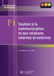 BTS assistant manager ; F1 soutien à la communication ; livre de l'élève - Couverture - Format classique