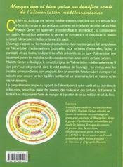 Santé et alimentation méditerranéenne au quotidien - 4ème de couverture - Format classique